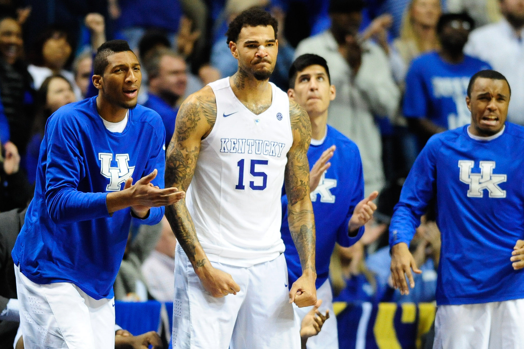 NCAA Basketball: SEC Conference Tournament-Arkansas vs Kentucky