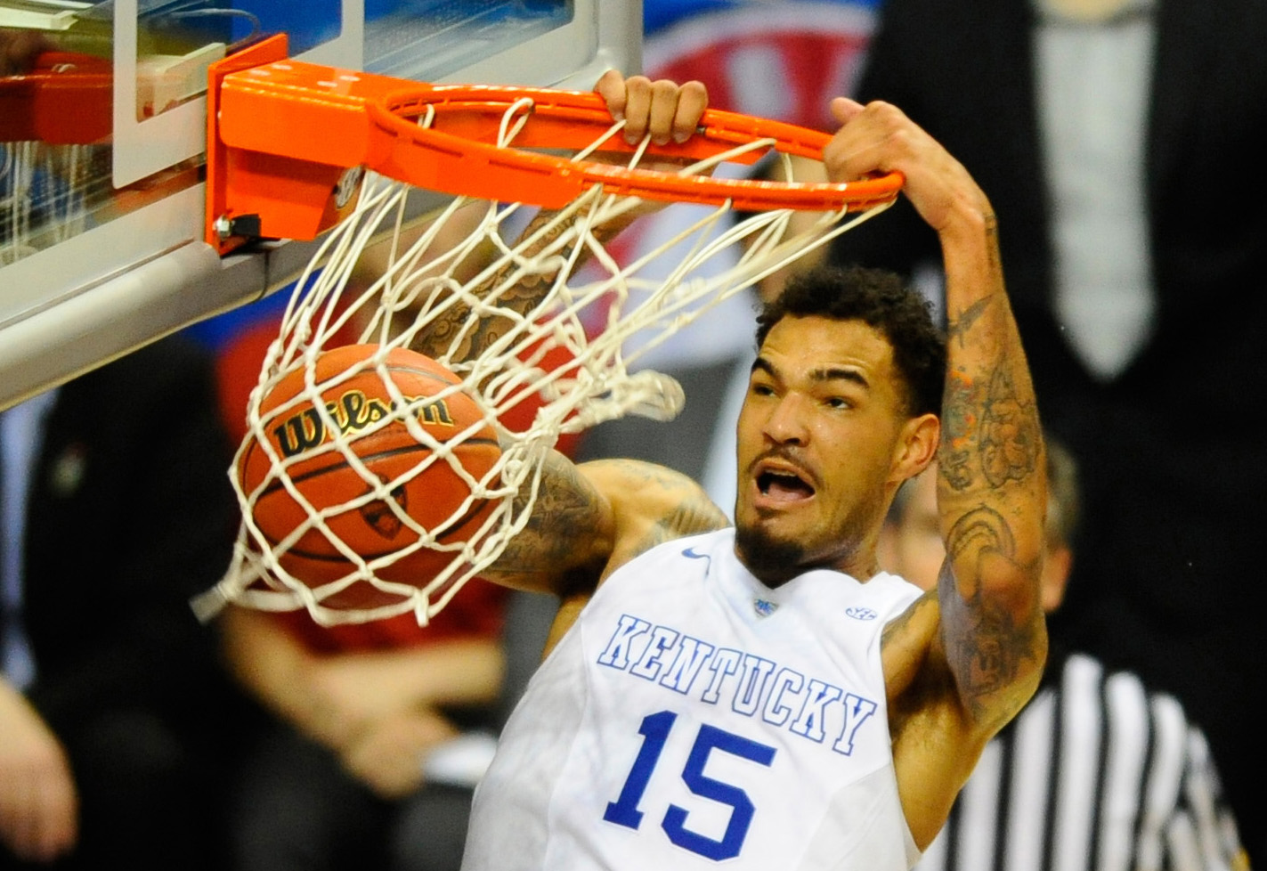 Center Willie Cauley-Stein is a big reason Kentucky is the favorite to win the NCAA tournament. Christopher Hanewinckel / USA TODAY Sports