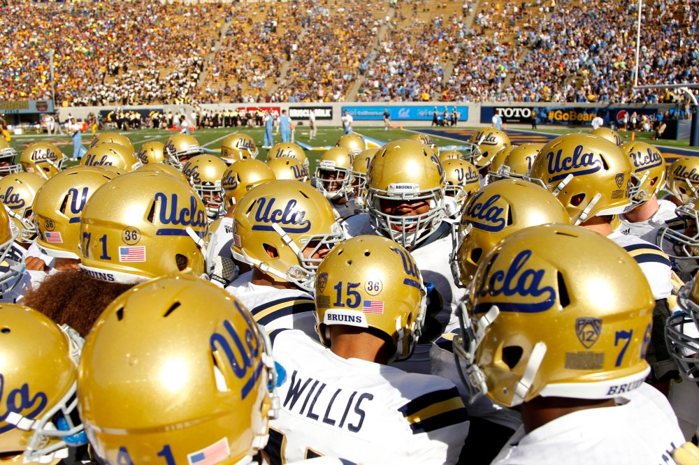 UCLA prepares to take the field against Cal last season. (Cary Edmondson / USA TODAY Sports)