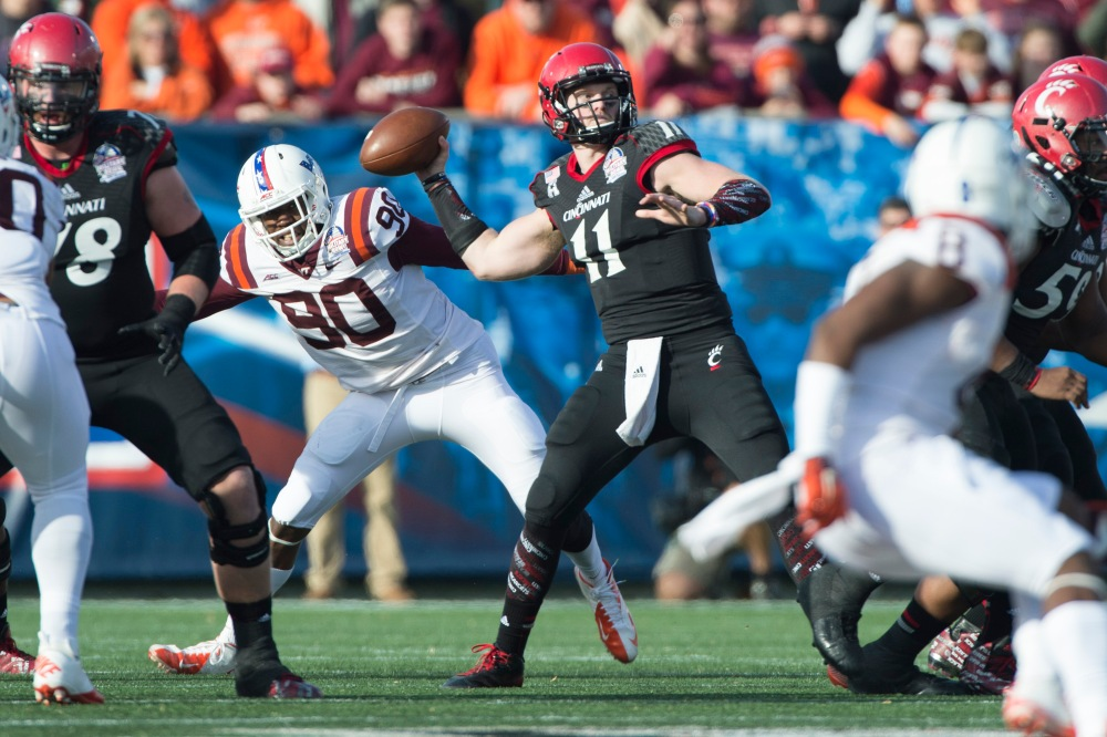Cincinnati's Gunner Kiel (11) figures to be one of the most prolific passers in FBS this season. (Tommy Gilligan / USA TODAY Sports)