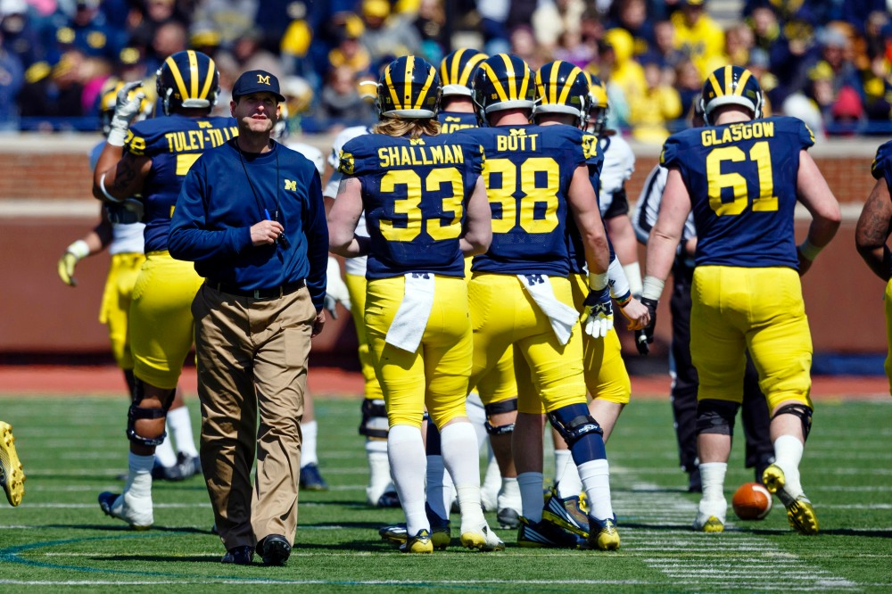 Jim Harbaugh's arrival at Michigan was one of the biggest stories of college football's offseason. (Rick Osentoski / USA TODAY Sports)