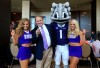 TCU coach Gary Patterson (second from left) is expected to have a Big 12 favorite and Playoff contender this season. (Kevin Jairaj / USA TODAY Sports)