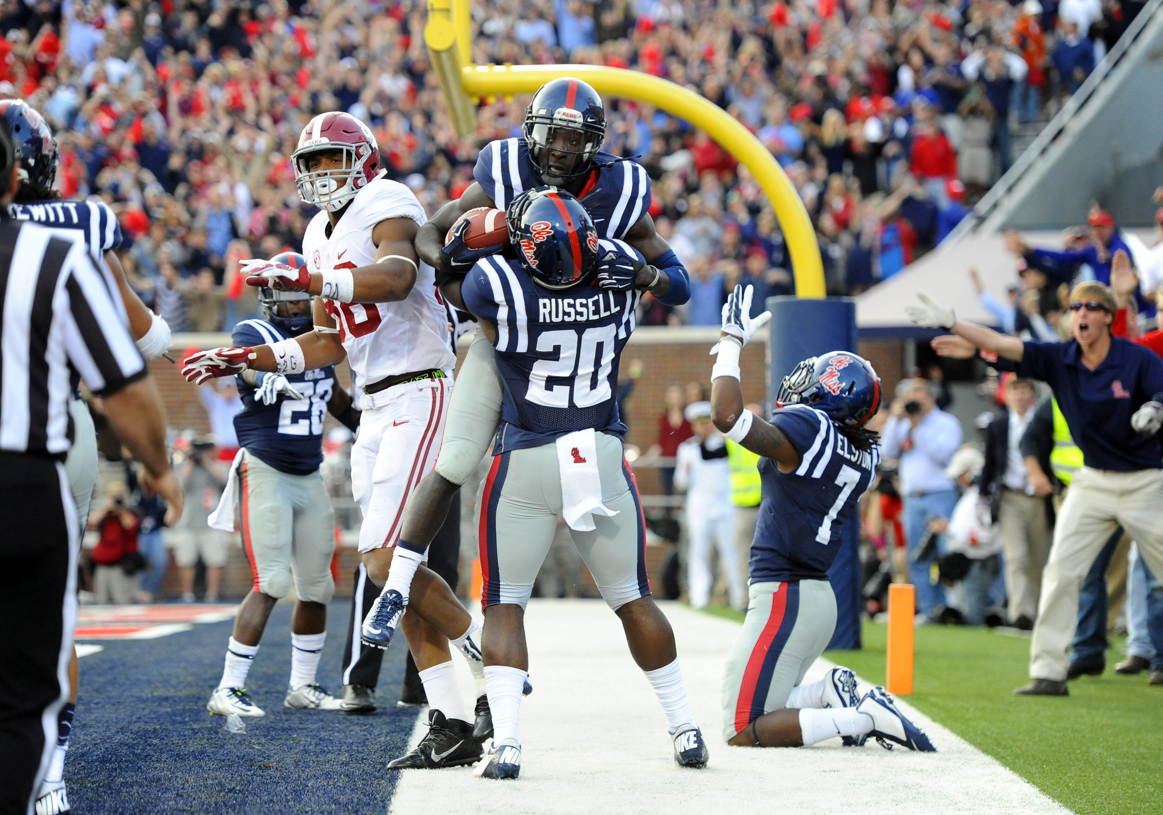 Mississippi upset Alabama last season in Oxford. (Christopher Hanewinckel, USA TODAY Sports)