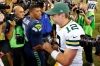 Will Seahawks QB Russell Wilson and NFL MVP Aaron Rodgers (12) vie for another NFC title? (Joe Nicholson, USA TODAY Sports)