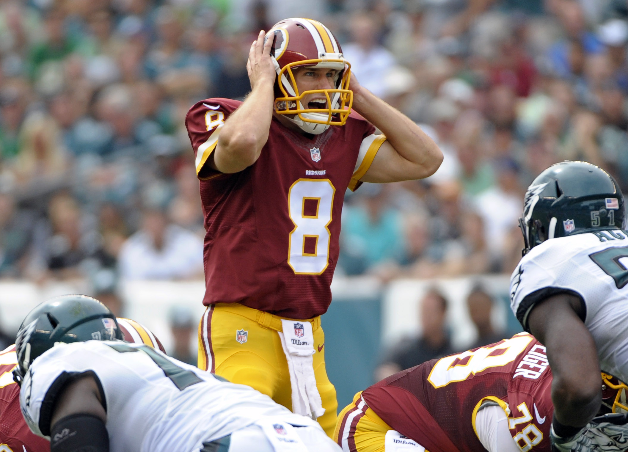 Redskins QB Kirk Cousins passed for 427 yards and three TDs last time he faced the Eagles. (Eric Hartline, USA TODAY Sports)