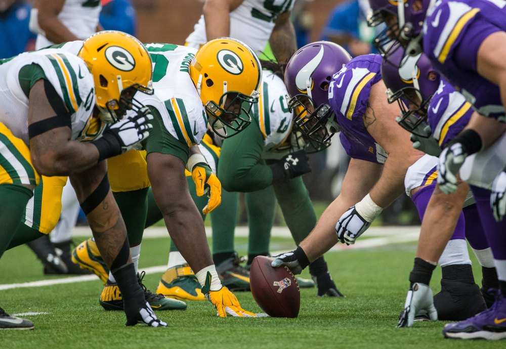First place in the NFC North will be on the line when the Vikings host the Packers on Sunday. (Brace Hemmelgarn, USA TODAY Sports)
