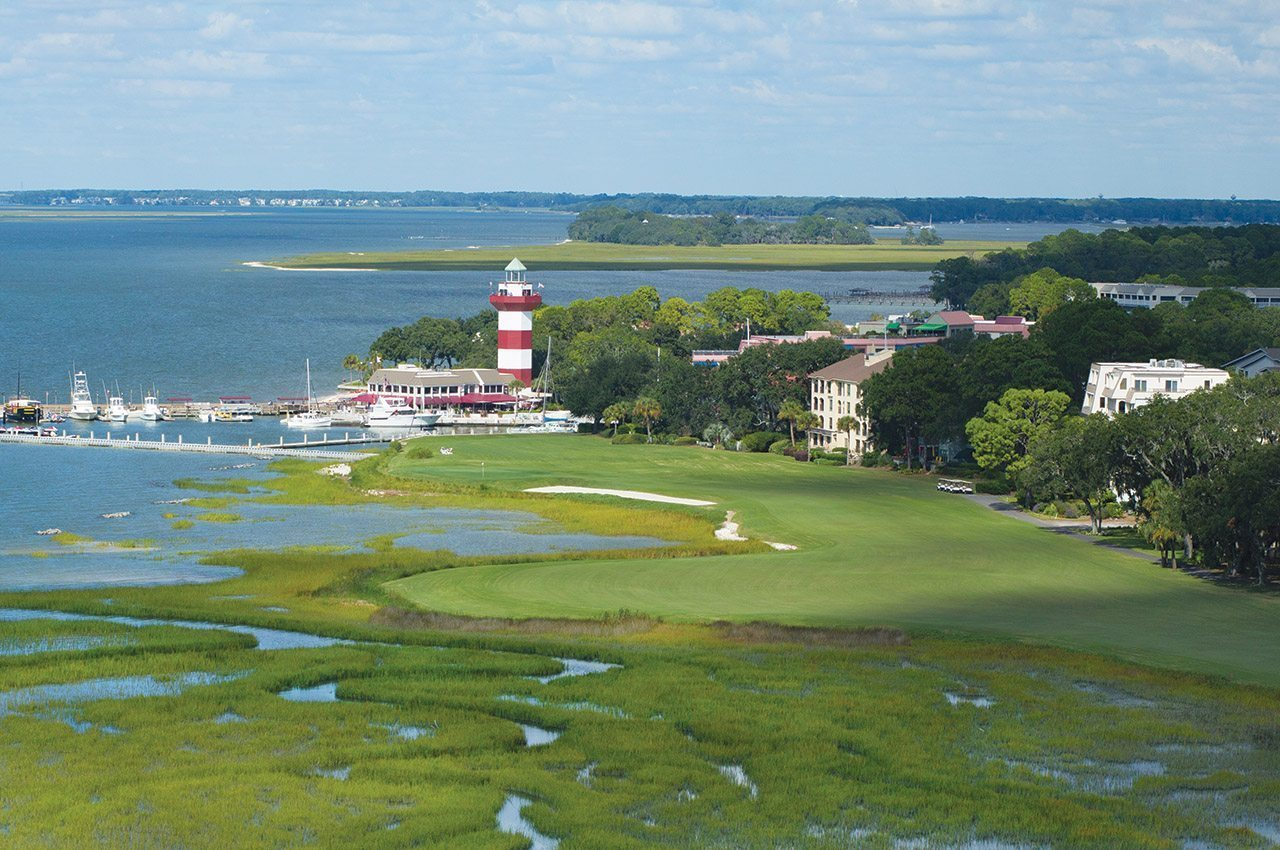 Aerial of Harbour Town Golf Links No. 18