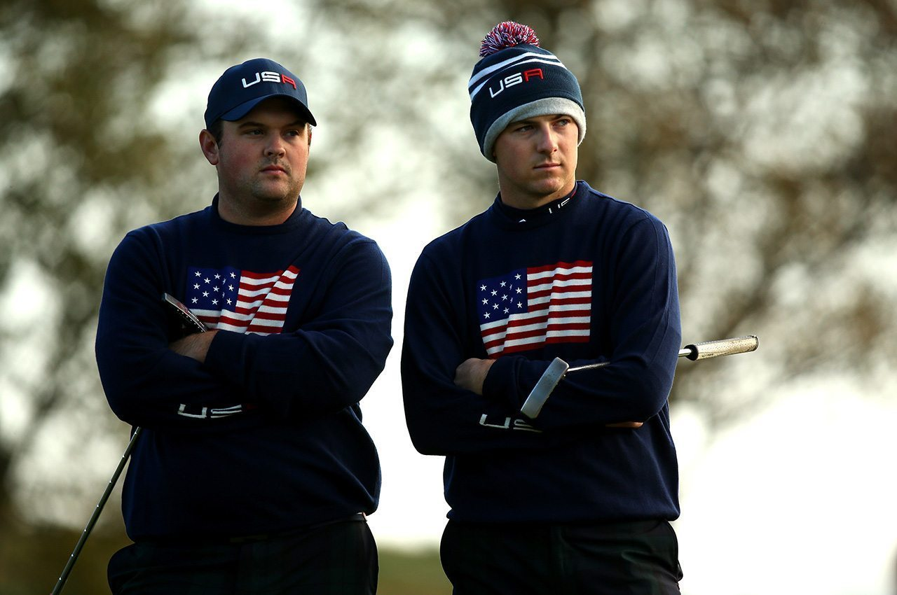 Patrick Reed and Jordan Spieth, shown at the 2014 Ryder Cup