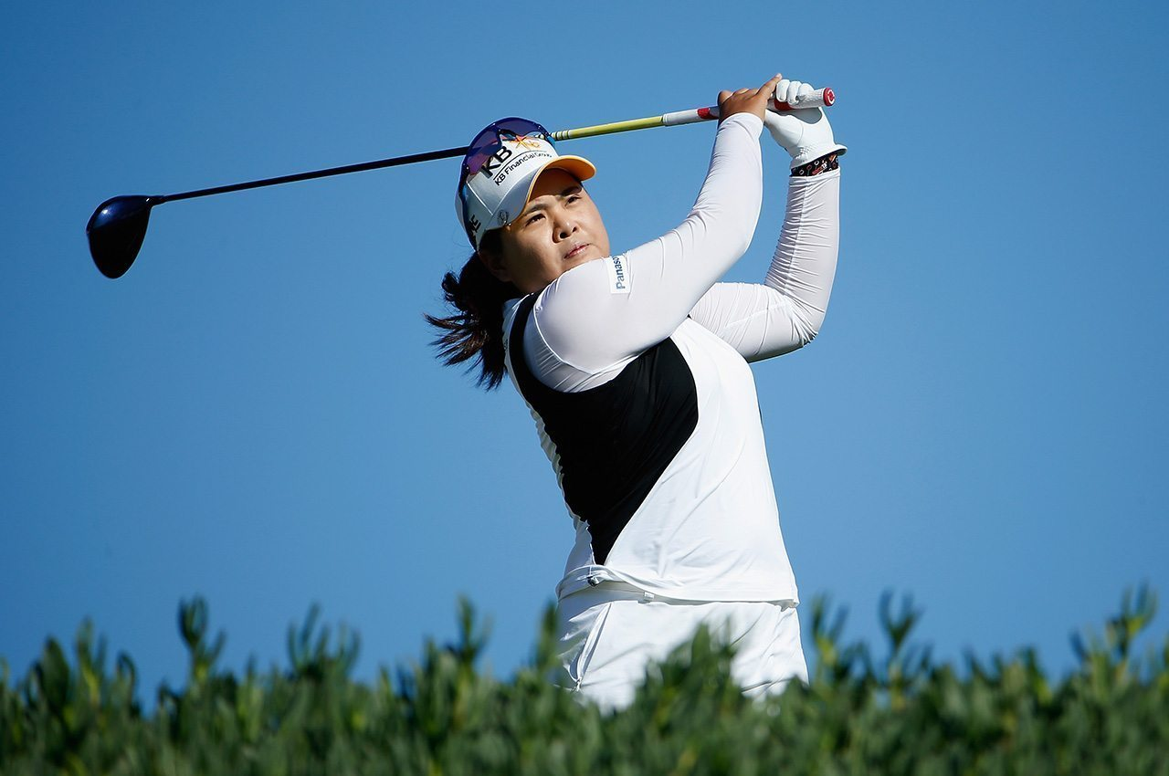 Inbee Park during the second round of the 2016 LPGA LOTTE Championship.