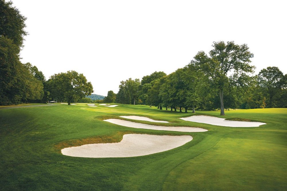 Baltusrol's long par-5 17th