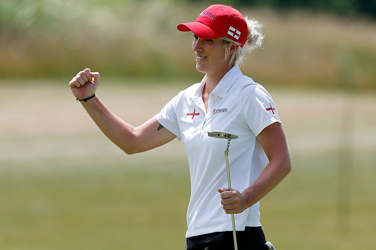 Melissa Reid was on her own Friday at the UL International Crown after Charley Hull withdrew.