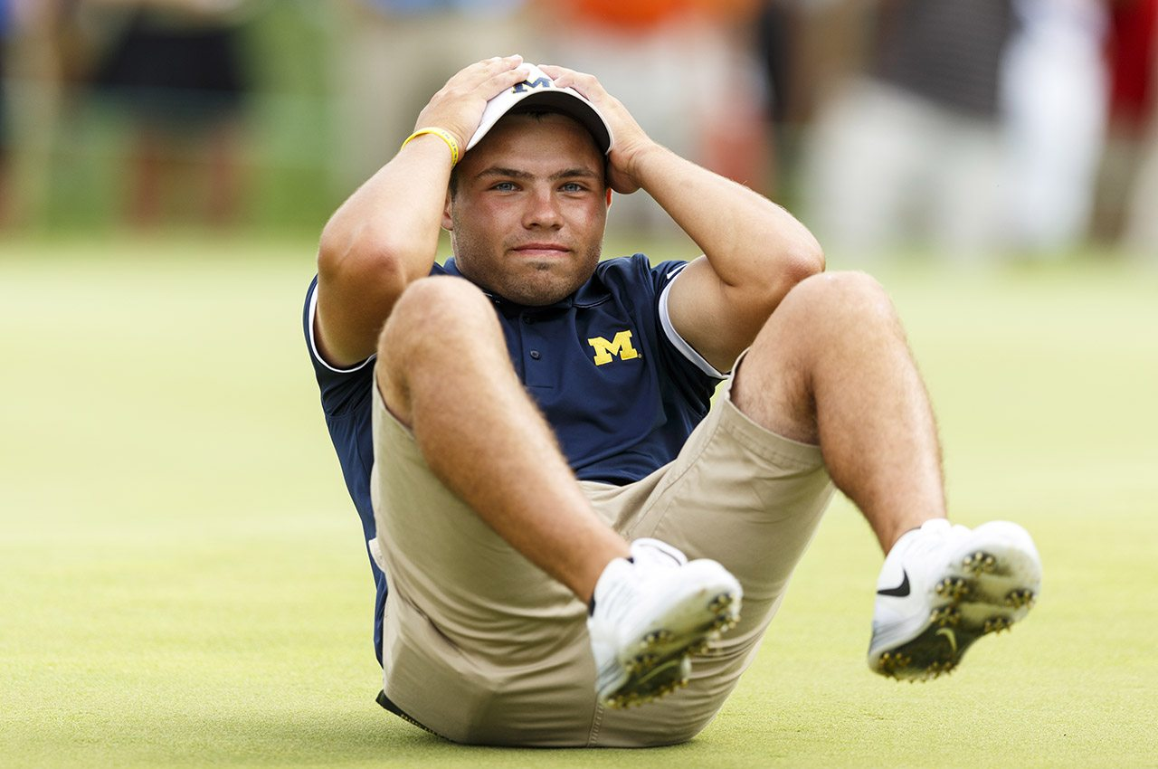 Nick Carlson lost his semifinal match in 21 holes to Curtis Luck.