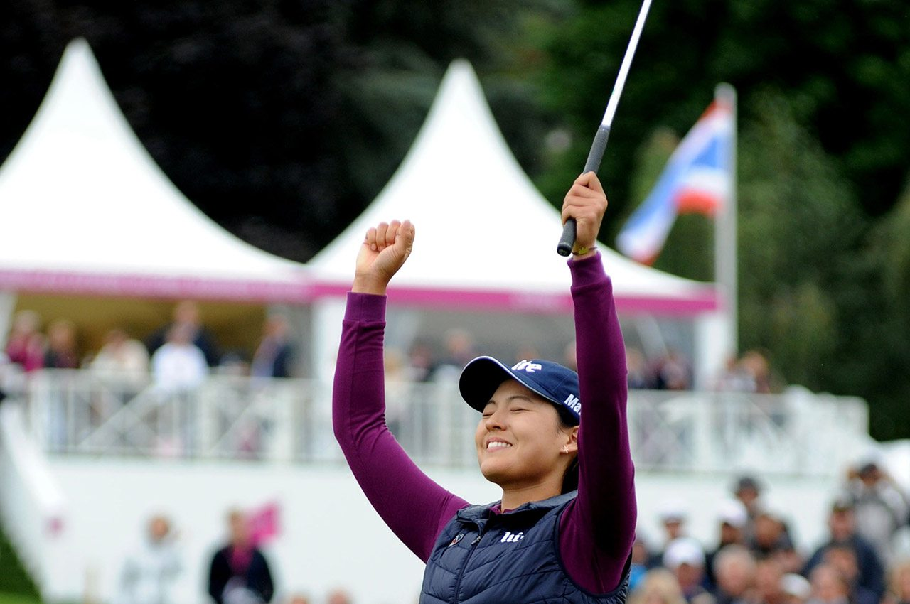 In Gee Chun reacts after winning the Evian Championship.