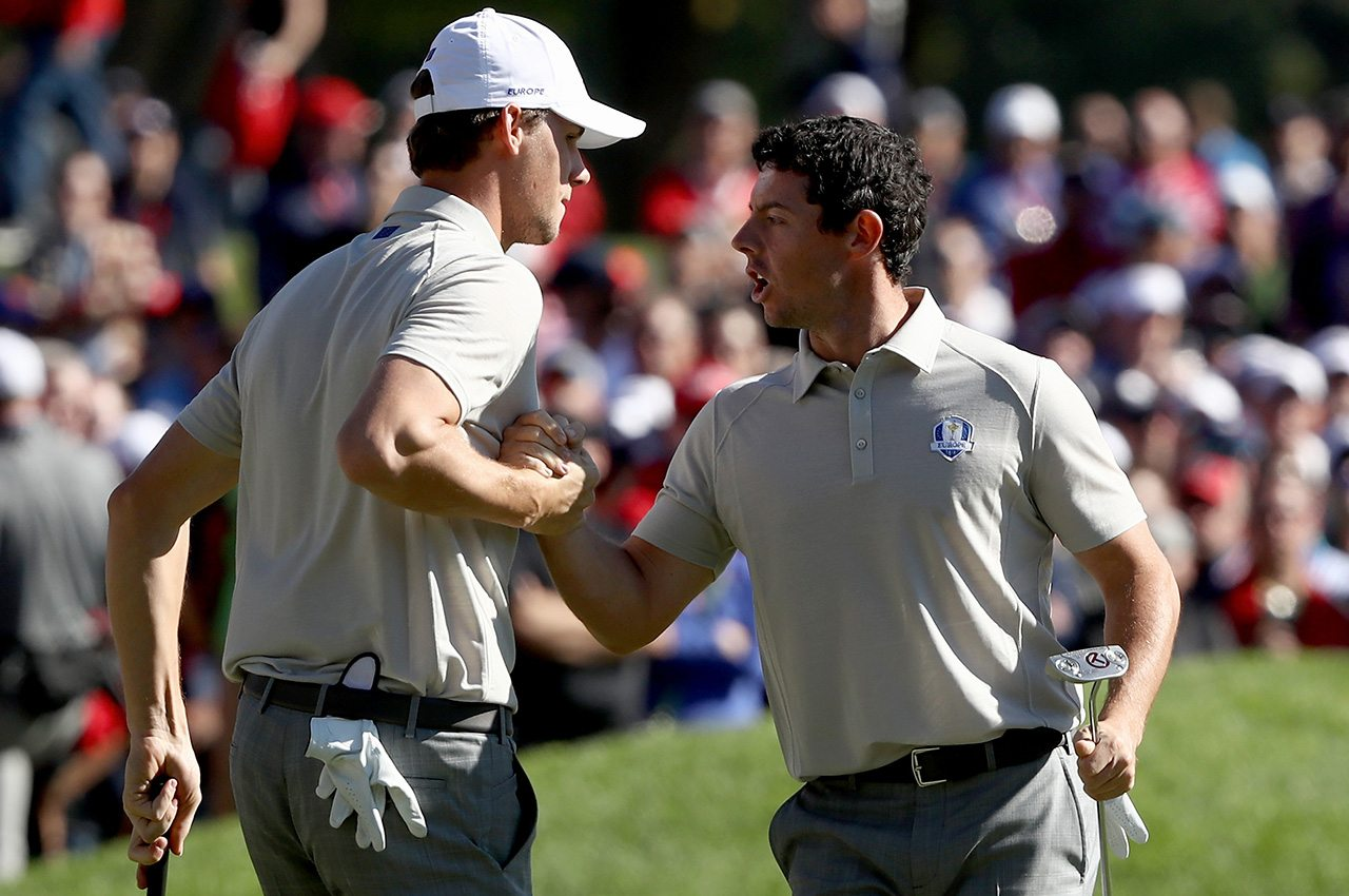 Thomas Pieters and Rory McIlroy have done their part thus far, but the Euros will need a large Sunday comeback to win the 2016 Ryder Cup.