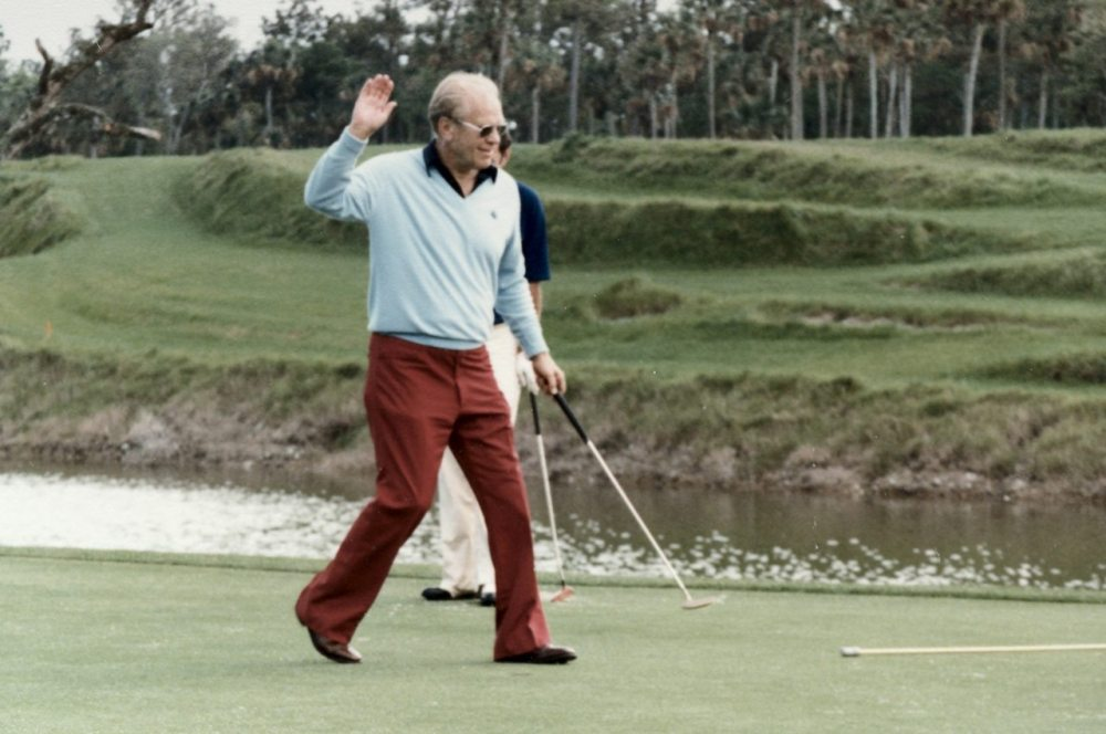 Gerald Ford On and Around Golf Courses - File Photos