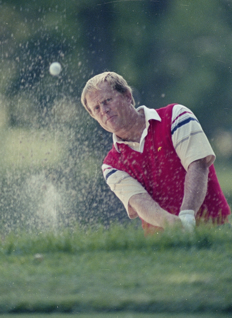 Jack Nicklaus is seen during U.S. Open action at the Oak Hill Country Club in Rochester, N.Y., June 1989. (AP)