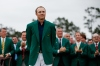 Jordan Spieth wearing the Green Jacket after his 2015 Masters victory.