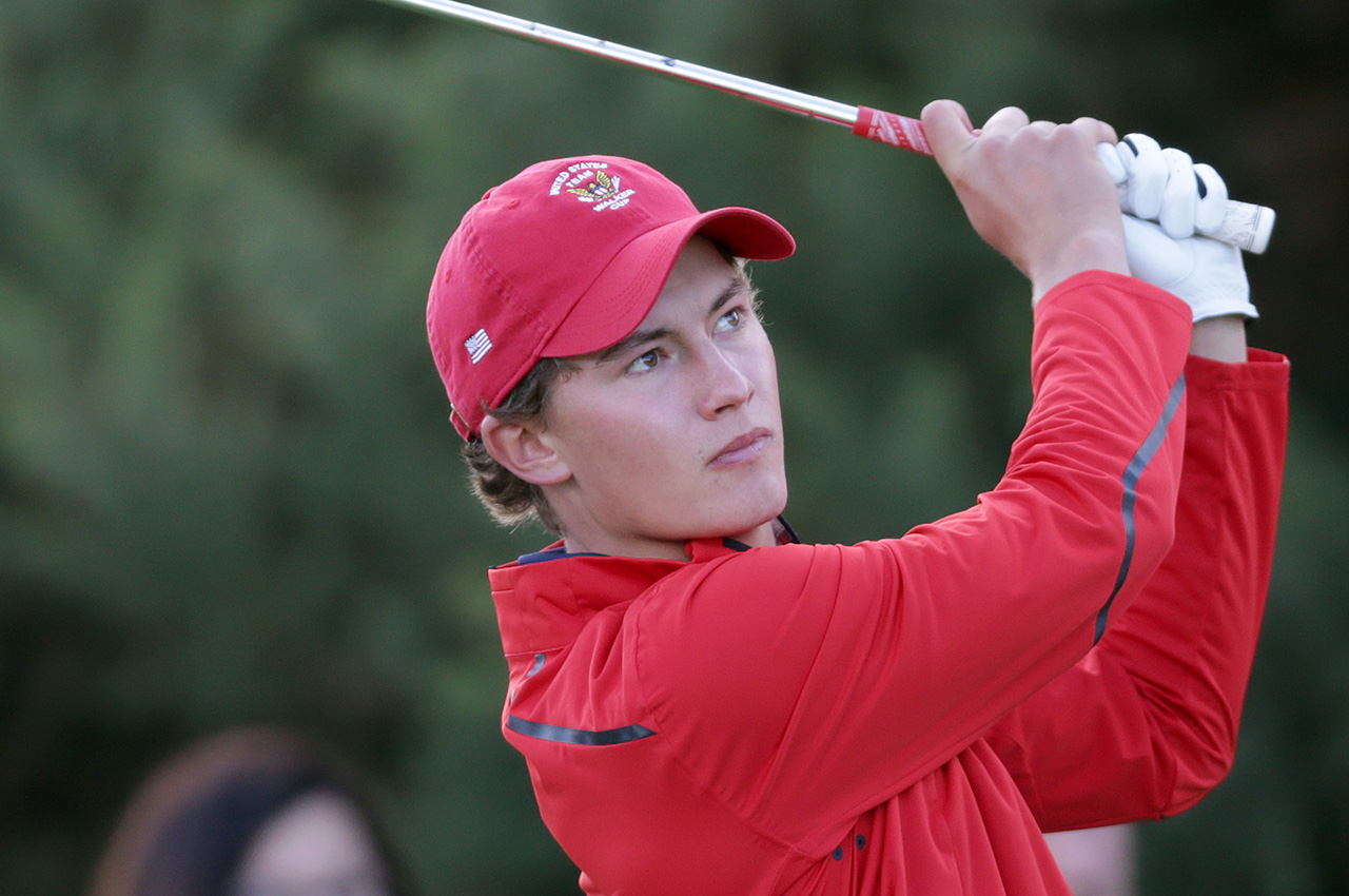 Maverick McNealy, pictured at the 2015 Walker Cup (Getty Images)