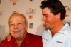 Arnold Palmer, shown with grandson Sam Saunders