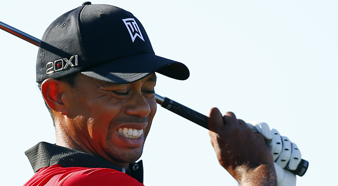 Tiger Woods during the 2013 Barclays at Liberty National.