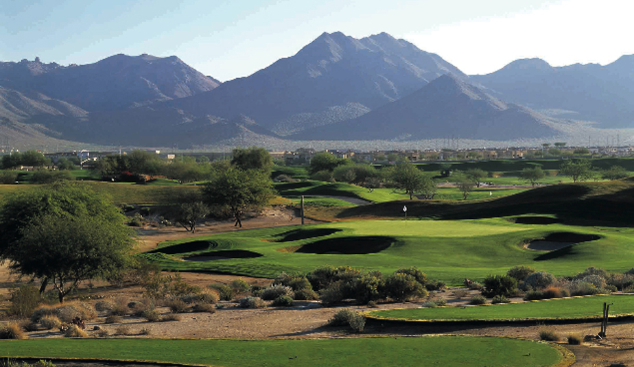 The 16th hole at TPC Scottsdale.