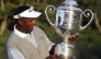 Vijay Singh hoists the Wanamaker Trophy after winning the 2004 PGA Championship.