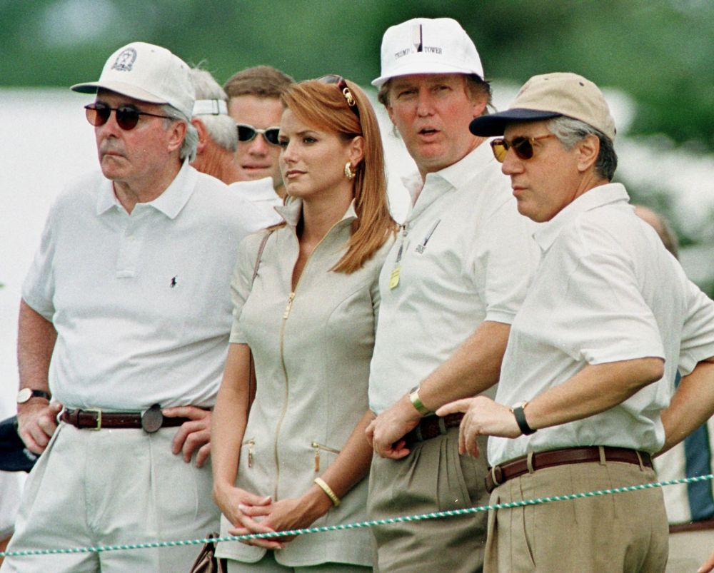 Donald Trump was just another face in the crowd during the 1997 PGA Championship at Winged Foot Golf Club in Mamaroneck, NY. (AFP/Getty Images)