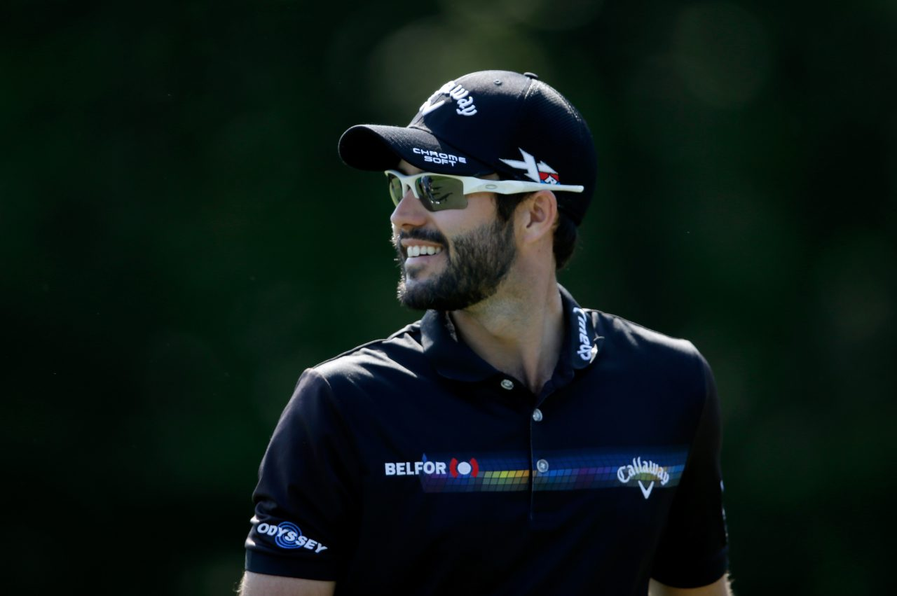 PONTE VEDRA BEACH, FL - MAY 11: Adam Hadwin of Canada smiles during a practice round prior to THE PLAYERS Championship at the TPC Stadium course on May 11, 2016 in Ponte Vedra Beach, Florida. (Photo by Sam Greenwood/Getty Images)
