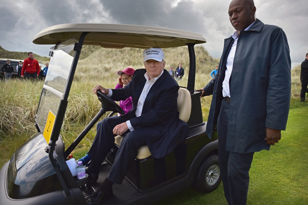 Critics of Donald Trump worry that his environmental policies could cause long-term damage to the game of golf. (JEFF MITCHELL/GETTY IMAGES)
