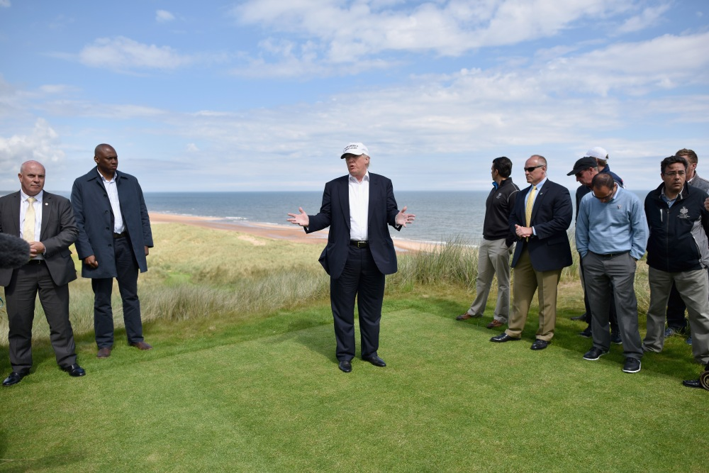 Trump Turnberry in Scotland underwent an eight-month refurbishment as part of an investment thought to be worth around $250 million. (JEFF J. MITCHELL/GETTY)