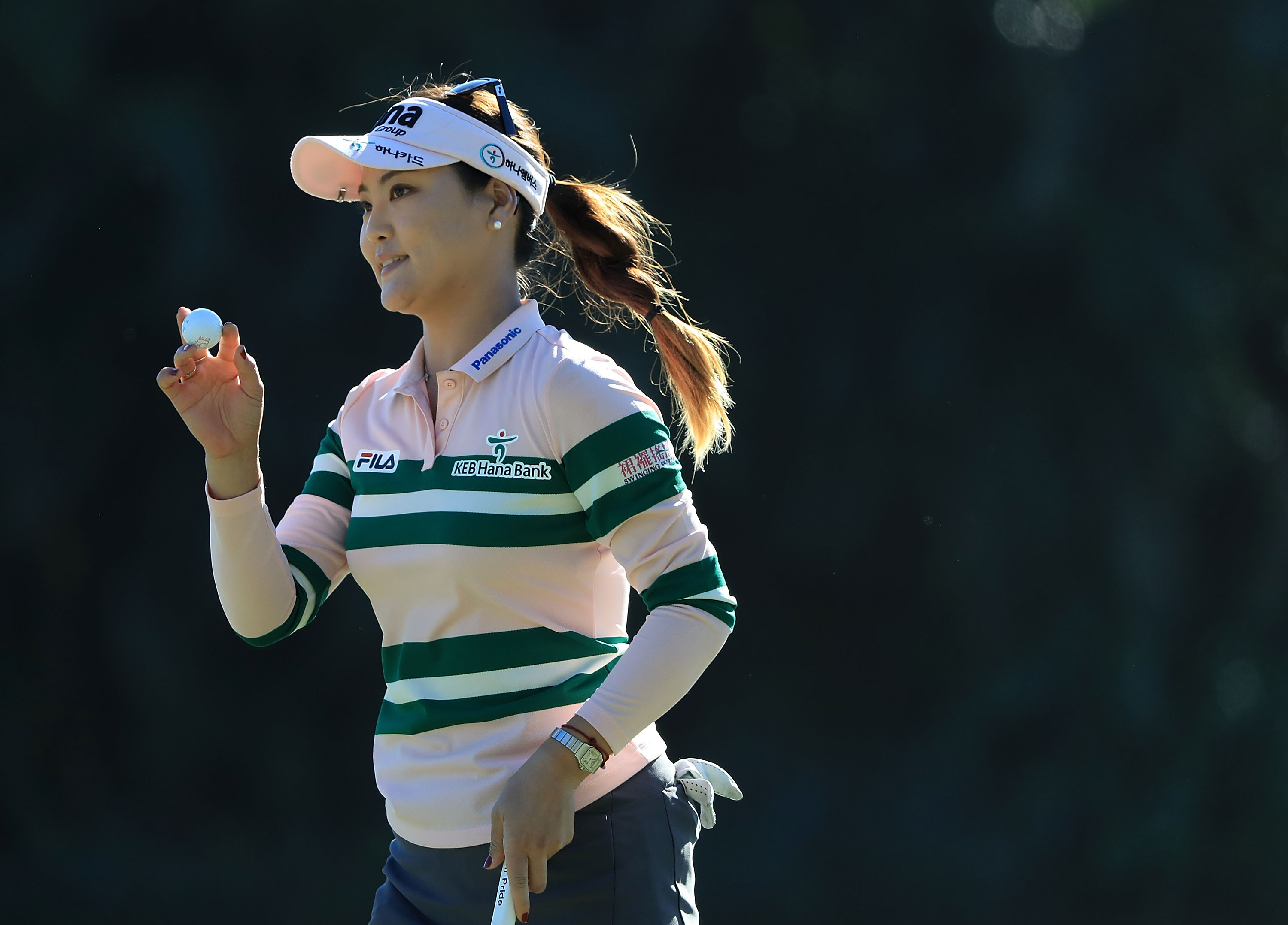 NAPLES, FL - NOVEMBER 20: So Yeon Ryu of South Korea reacts to her putt during the final round of the CME Group Tour Championship at Tiburon Golf Club on November 20, 2016 in Naples, Florida. (Photo by Sam Greenwood/Getty Images)