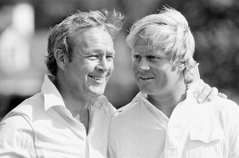 Jack Nicklaus and Arnold Palmer remain two of sports' most dominant figures of the 20th century. (AP)