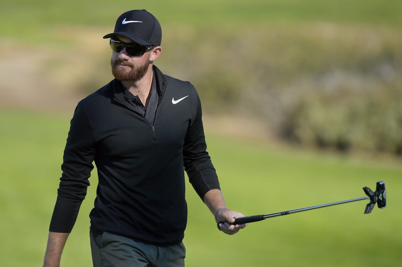 Patrick Rodgers is loving his new race-inspired putter. (Getty Images)