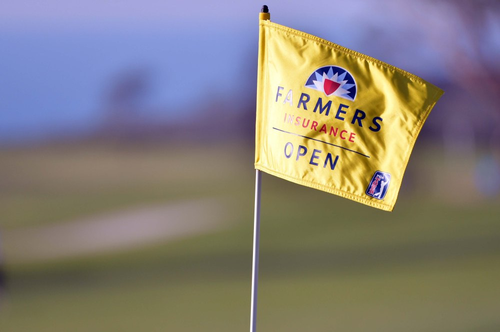 Jan 26, 2017; La Jolla, CA, USA; A general view of the 18th hole flagstick during the first round of the Farmers Insurance Open golf tournament at Torrey Pines Municipal Golf Course. Mandatory Credit: Orlando Ramirez-USA TODAY Sports