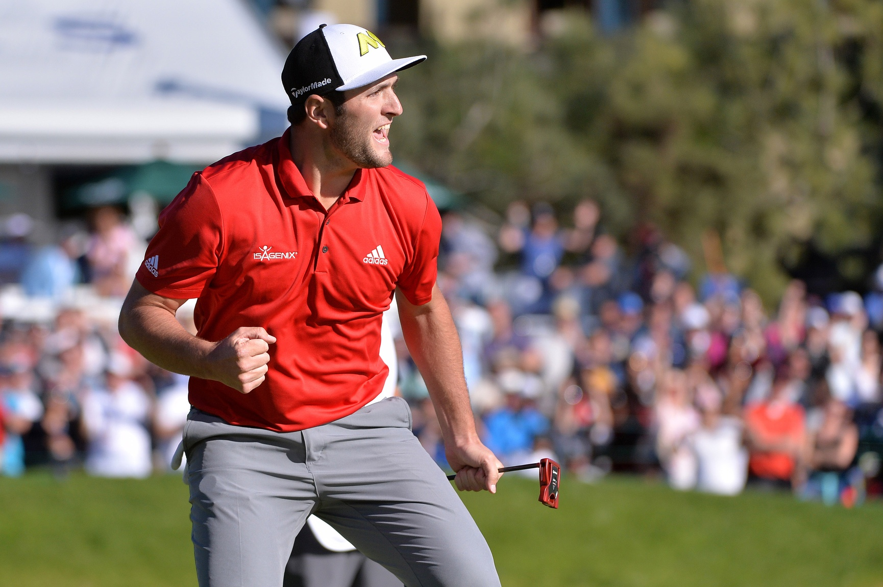 Jon Rahm was just the second player to win in his debut at the Farmers Insurance Open (Arnold Palmer was the other).