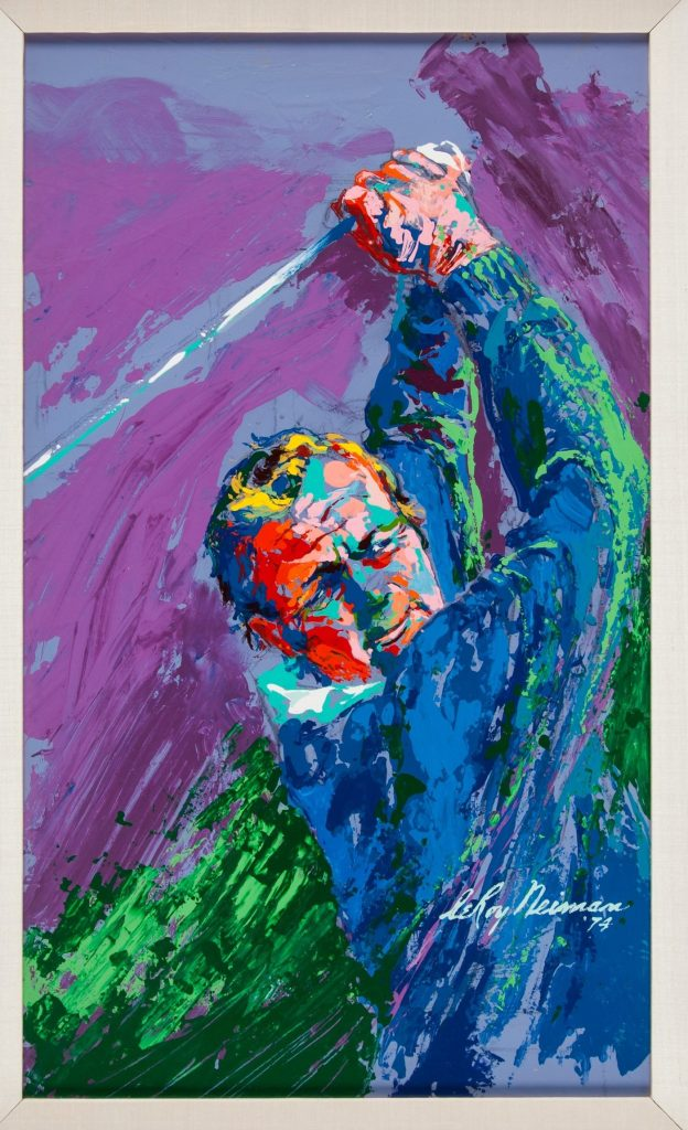 This Leroy Neiman painting of Arnold Palmer is up for auction at Heritage Auctions.