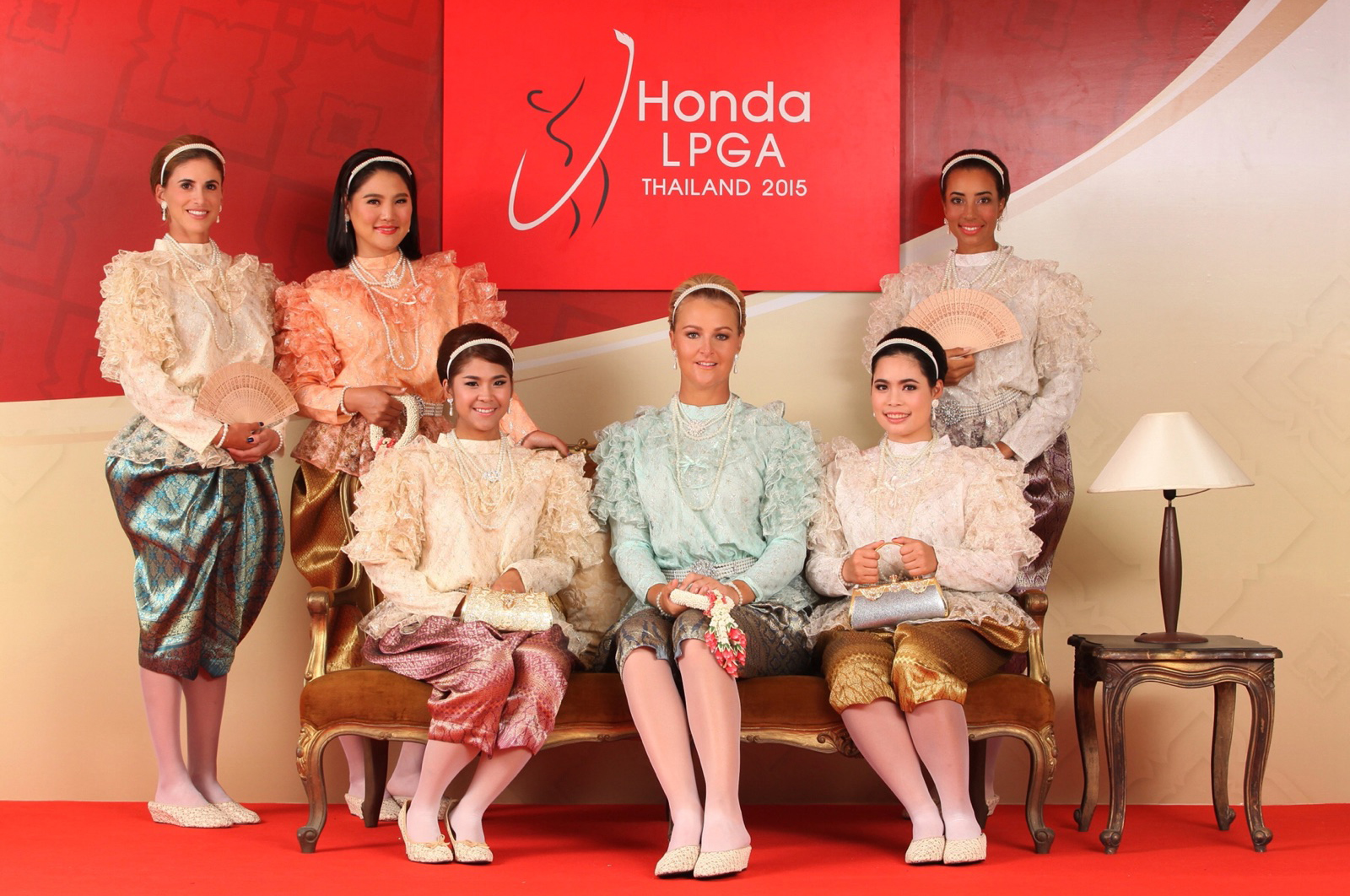 A fun photo prior to the 2015 Honda LPGA Thailand