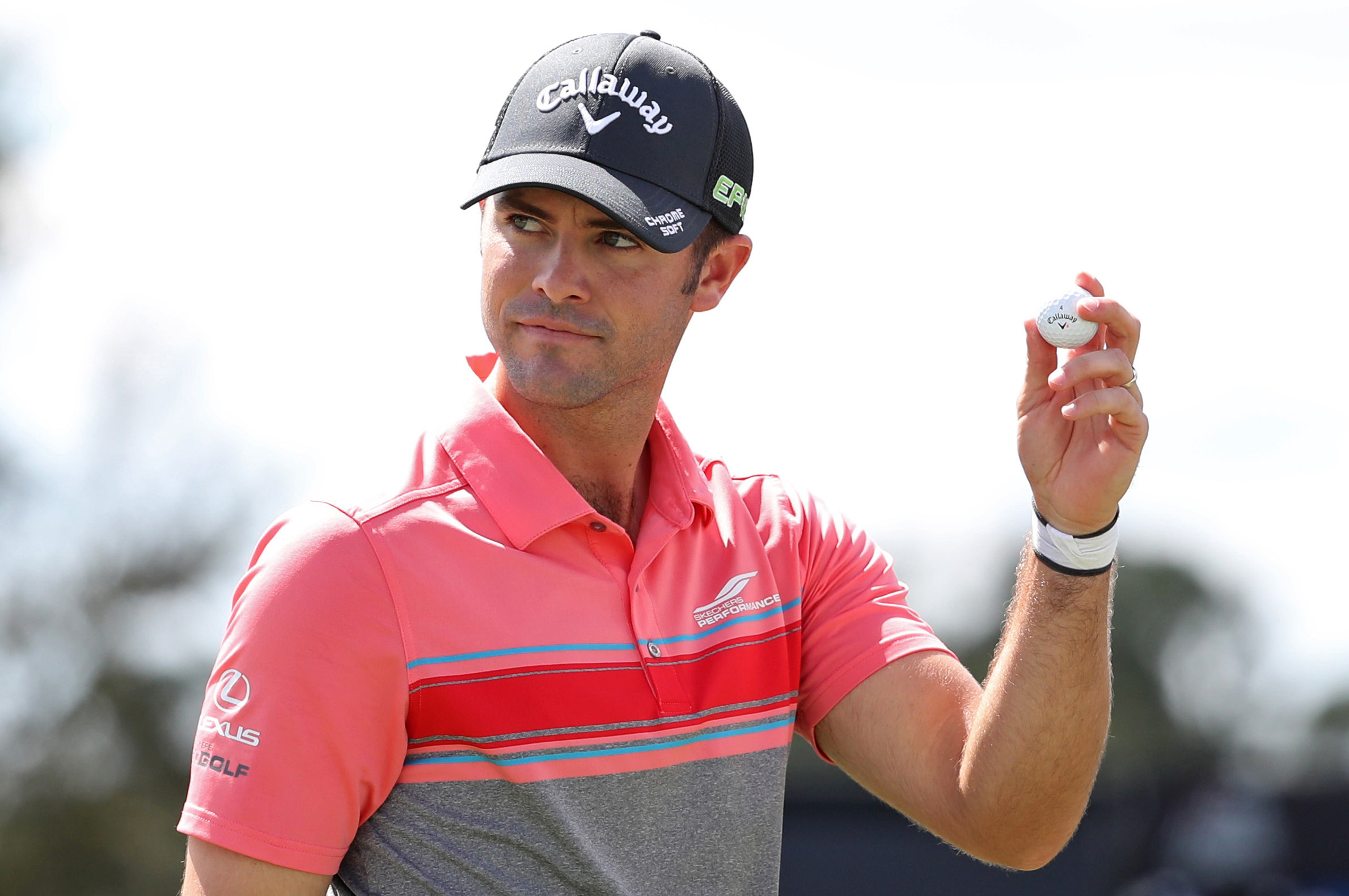 Feb 23, 2017; Palm Beach Gardens, FL, USA; Wesley Bryan reacts to fans after finishing his round on the ninth hole during the first round of The Honda Classic at PGA National (Champion). Mandatory Credit: Jason Getz-USA TODAY Sports