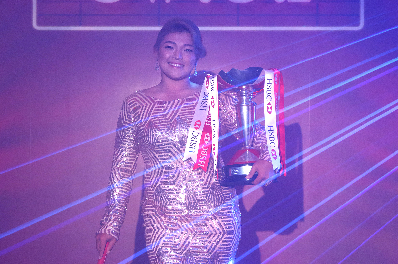 SINGAPORE - March 01 : Ha Na Jang poses with the trophy during a photo call prior to the HSBC Women's Champions at the Sentosa Golf Club on February 27th, 2017 in Singapore.  Players were invited to 'Own The Stage' prior to the tournament, which will be hosted on the new Tanjong Course at Sentosa Golf Club from 2nd to 5th March, the 10th Anniversary of the HSBC Women's Champions. (photo by Russel Wong/HSBC via Getty Images)