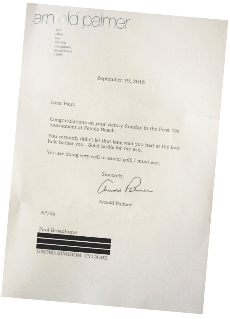 Letters From Arnold Palmer