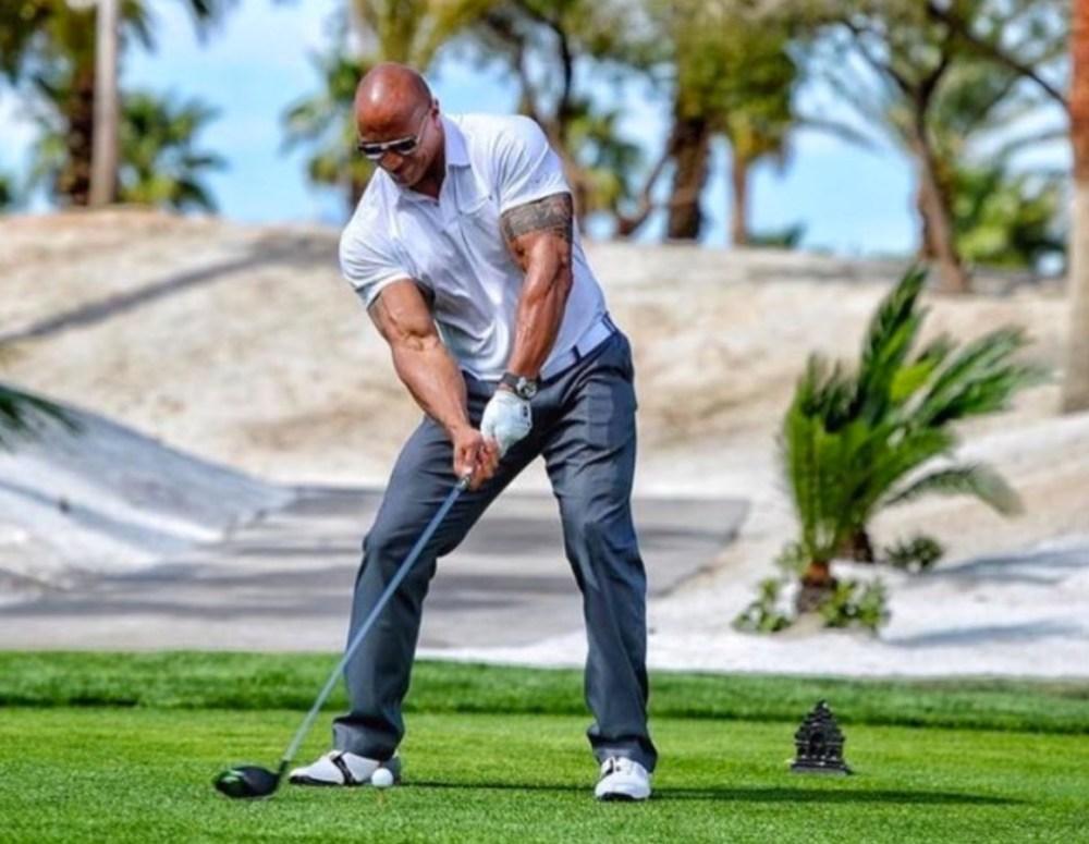 Dwayne Johnson Golf