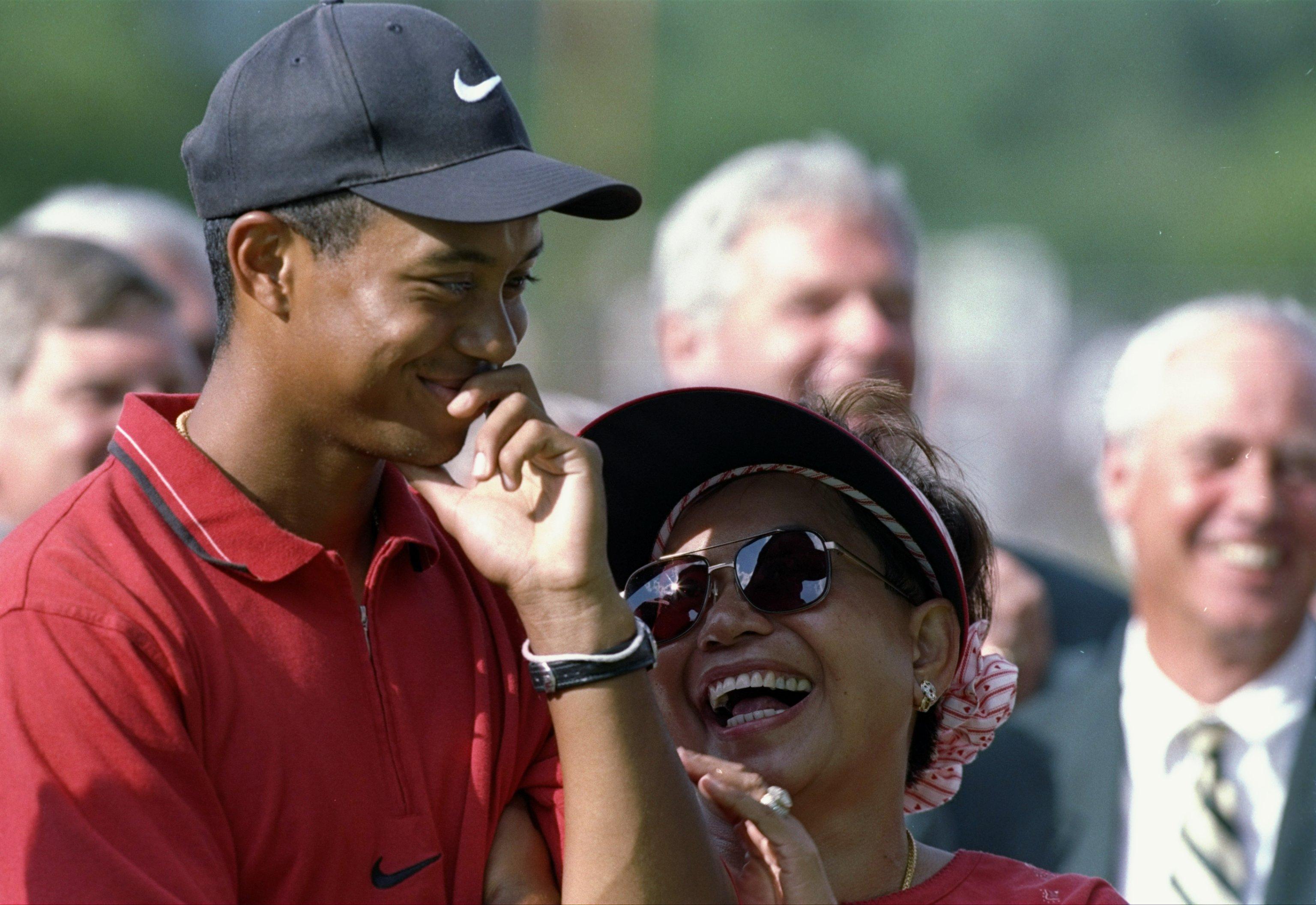 Tiger Woods 1997 Masters parents