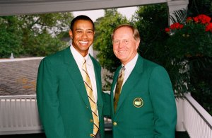 Jack Nicklaus Tiger Woods Masters Dinner