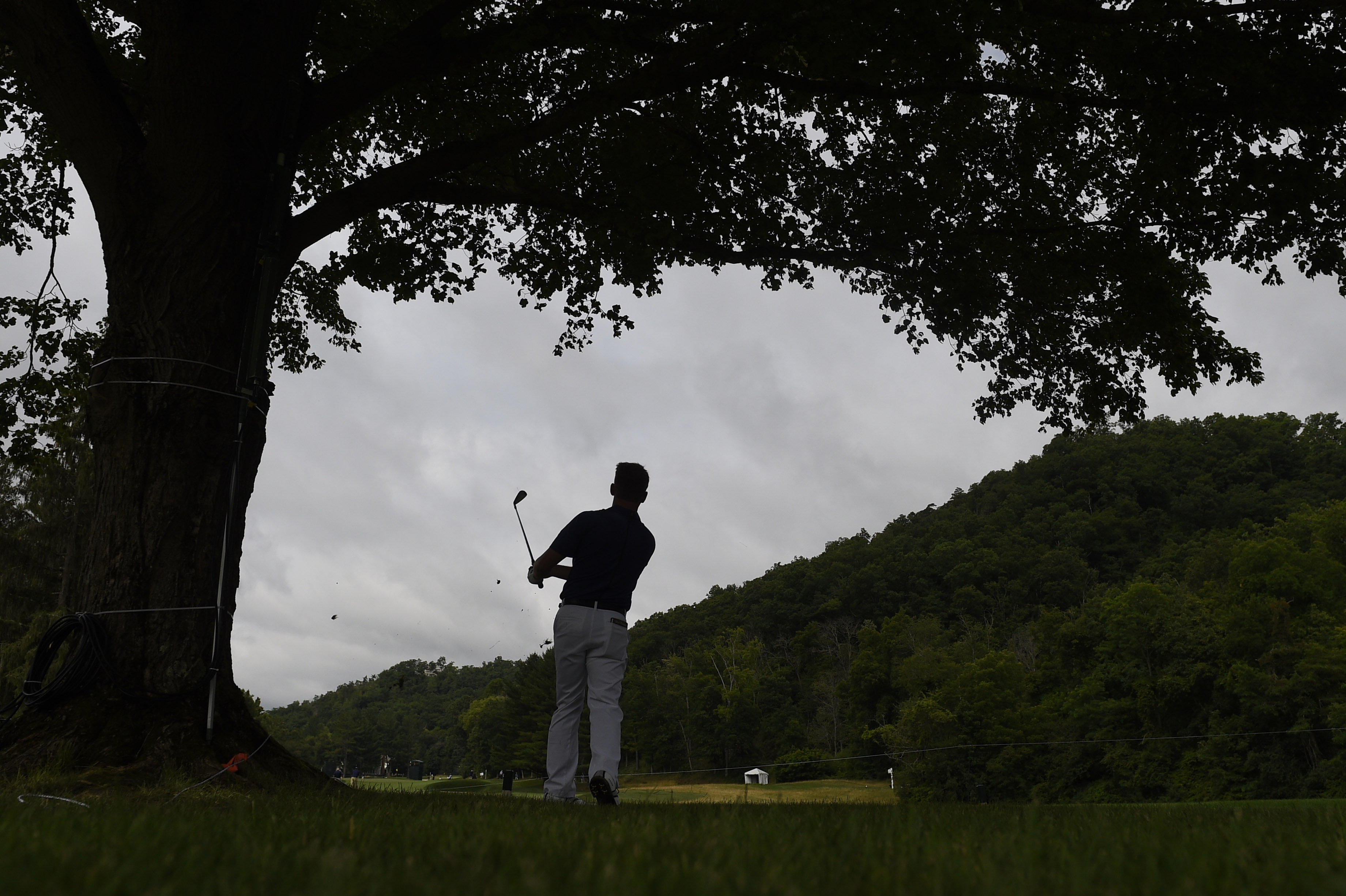 Jul 6, 2017; White Sulphur Springs, WV, USA; Alan Cooke on the 12th fairway during the first round of The Greenbrier Classic golf tournament at The Old White TPC. Mandatory Credit: Bob Donnan-USA TODAY Sports