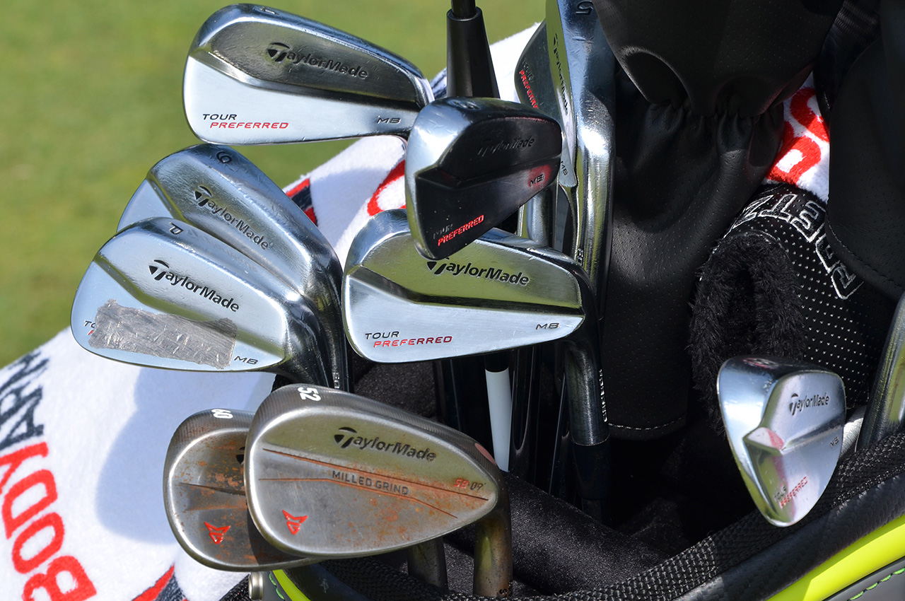 Dustin Johnson's TaylorMade irons