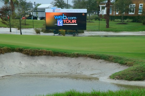 ATLANTIC BEACH, FL - OCTOBER 01: The ninth green is seen as wind and rain delay the start of the fourth and final round of the Web.com Tour Championship held at Atlantic Beach Country Club on October 1, 2017 in Atlantic Beach, Florida. (Photo by Michael Cohen/Getty Images)