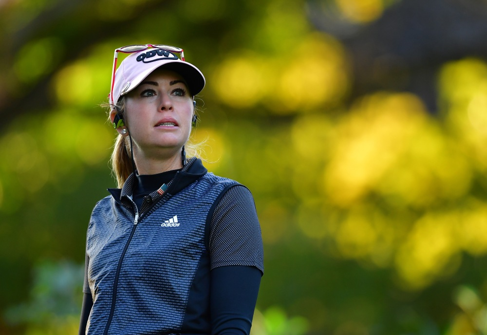 EVIAN-LES-BAINS, FRANCE - SEPTEMBER 14: Paula Creamer of USA looks on during the first round of The Evian Championship at Evian Resort Golf Club on September 14, 2017 in Evian-les-Bains, France. (Photo by Stuart Franklin/Getty Images)