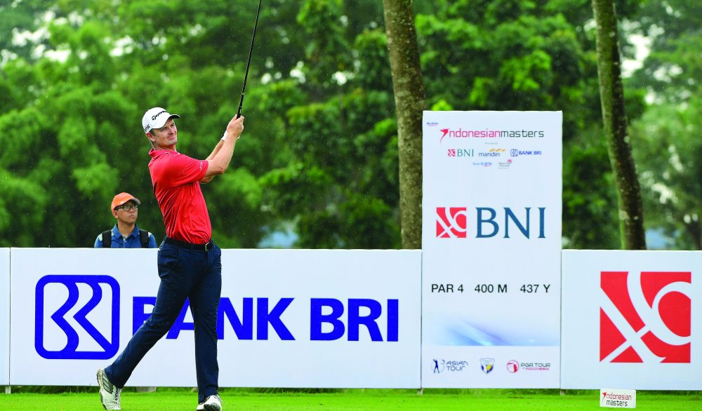 JAKARTA, INDONESIA - DECEMBER 17: Justin Rose of England pictured during final round of the 2017 Indonesian Masters at Royale Jakarta Golf Club on December 17, 2017 in Jakarta, Indonesia. (Photo by Arep Kulal/Asian Tour/Asian Tour via Getty Images)