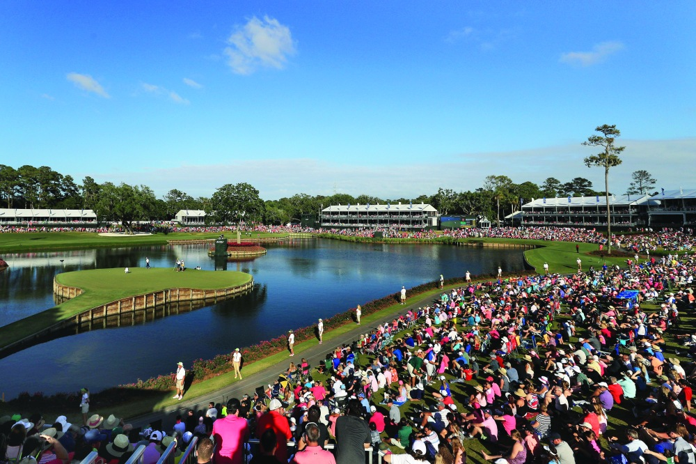 PONTE VEDRA BEACH, FL - MAY 14: A scenic view of the 17th green during the final round of THE PLAYERS Championship at the Stadium course at TPC Sawgrass on May 14, 2017 in Ponte Vedra Beach, Florida. (Photo by Mike Ehrmann/Getty Images)
