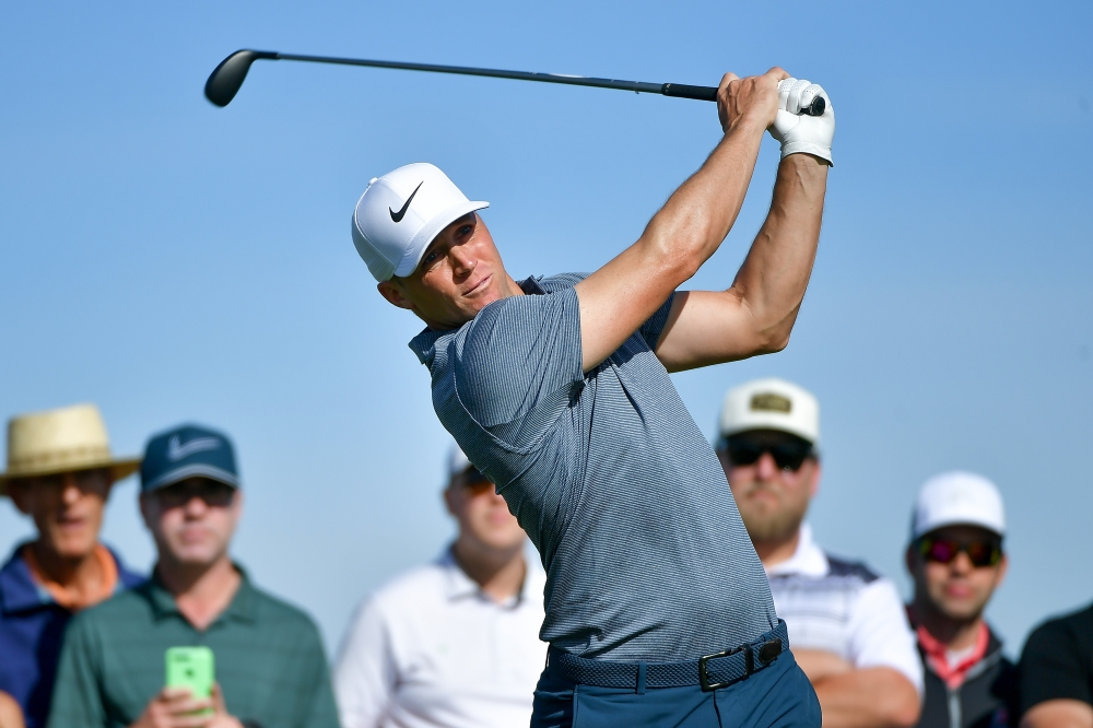 SAN DIEGO, CA - JANUARY 27: Alex Noren of Sweden plays his shot from the second tee during the third round of the Farmers Insurance Open at Torrey Pines South on January 27, 2018 in San Diego, California. (Photo by Donald Miralle/Getty Images)